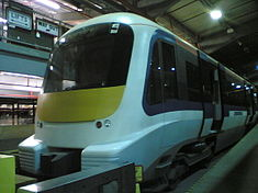 Crossrail train mock-up London Transport Museum Acton Depot.jpg