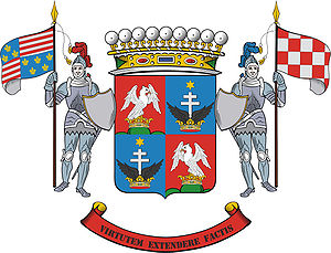 English: The coat of arms of the Cseszneky de ...