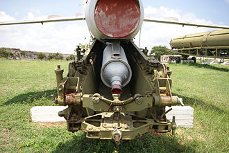 KS-1 Komet - Rear view of an FKR-1 with SPRD-15 rocket engine