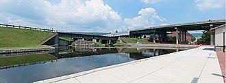 Canal Place - Image: Cumberland Basin looking at Guard Lock 8