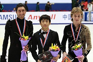 Sergei Voronov (figure skater) - Voronov with the other medalists at the 2009 Cup of China
