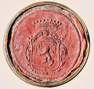 Red Hand of Ulster - Image: Curti Siegel 1699 Anna Helena v. Curti geb. Schenck zu Schweinsberg Carl Wilhelm v. Curti