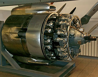 Compound engine - Wright R-3350 Duplex-Cyclone turbo compound engine