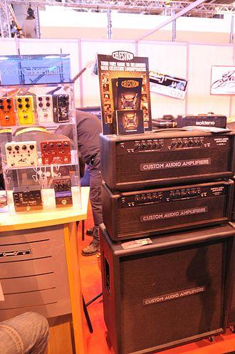 Celestion - Image: Custom Audio Amplifiers, Electro Harmonix, and Celestion @ Salon de la Musique 2008