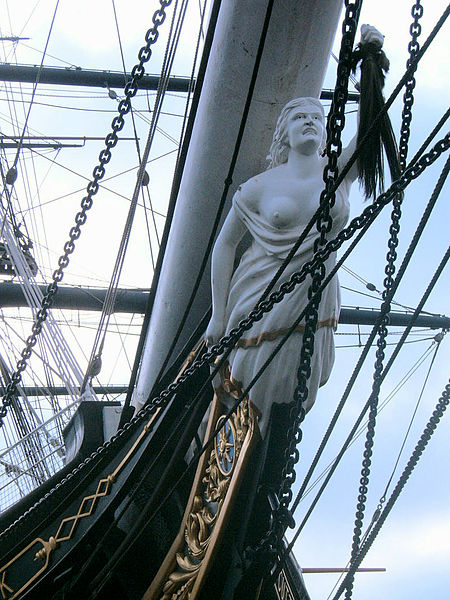 Cutty Sark's figure head , picture taken by User:Azu