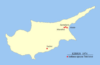 Maratha, Santalaris and Aloda massacre - Image: Cyprus 1974 Turkish massacre