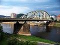 Děčín, Tyršův most, z Labského nábřeží k Labské ulici.jpg