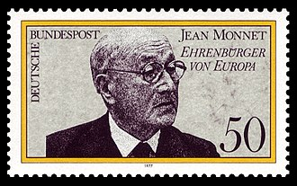 Jean Monnet - German stamp (1977)