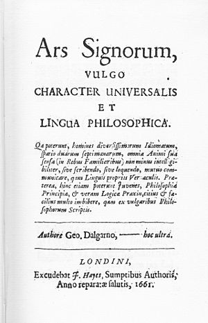 George Dalgarno - Title page of Dalgarno's Ars Signorum (1661).