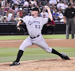 Dan Meyer (pitcher) - Meyer with the Florida Marlins