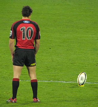 Number (sports) - Fly-half Dan Carter wearing n° 10, usually given to players in that position