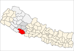 map of Dang, Nepal