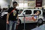 Danny Choo and Nissan Cube Mirai Suenaga itasha at Anime Expo 20120628.jpg