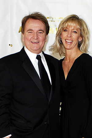Dave Thomas (actor) - Thomas with wife Kimberly Ann Thomas at the World premiere of Grown Ups in 2010