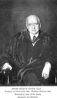 David Eugene Smith American mathematician