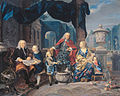 David van Mollem (1670-1746) and Jacob Sydervelt with his family, 1740, by Nicolas Verkolje.jpg
