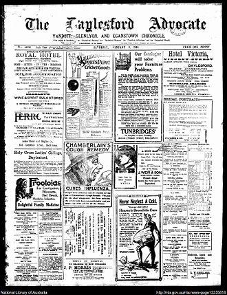 Daylesford Advocate - Daylesford Advocate 3 January 1914