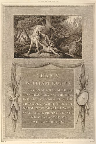 Robert Bowyer - Image: Death of William Rufus from Bowyer's History of England