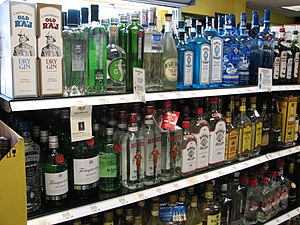 Gin - A selection of bottled gins on sale