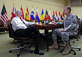 Defense.gov News Photo 100609-F-6655M-005 - Secretary of Defense Robert M. Gates talks with Commander of International Security Assistance Force-Afghanistan Gen. Stanley McChrystal U.S.jpg