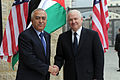 Defense.gov News Photo 110325-D-XH843-003 - Secretary of Defense Robert M. Gates meets with Palestinian Prime Minister Salaam Fayyed in his office in Ramallah, West Bank, on March 25, 2011.jpg