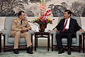 Defense.gov News Photo 110711-N-TT977-119 - Chairman of the Joint Chiefs of Staff Adm. Mike Mullen speaks with Chinese Vice President Xi Jinping in Beijing on July 11 2011. Mullen is on a.jpg