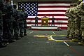Defense.gov News Photo 120330-D-BW835-528 - Secretary of Defense Leon E. Panetta speaks to sailors and Marines on board the USS Peleliu LHA 5 in the Pacific Ocean off the coast of San Diego.jpg