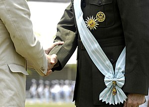 Order of Naval Merit Admiral Padilla - Sash of the Order, worn by General Peter Pace