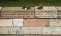 Del af Krigergravene ved Trinitatiskirken Fredericia 6 juli 2014 pyntet med blomster.jpg
