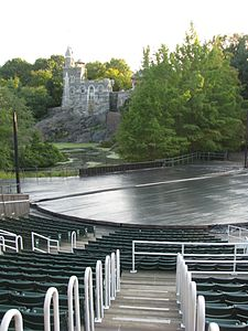 Delacorte Theater stage viewed from aisle M-N.jpg