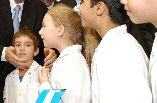 Alumnos de escuela argentina