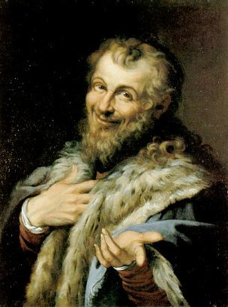 Nature (philosophy) - A Renaissance imagined representation of Democritus, the laughing philosopher, by Agostino Carracci