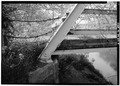 Detail of bridge abutment, west end - Station Road Bridge, Spanning Cuyahoga River, Brecksville, Cuyahoga County, OH HAER OHIO,18-BRECK,4-9.tif