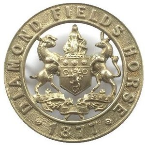 Kimberley Regiment - Diamond Fields Horse insignia circa 1877