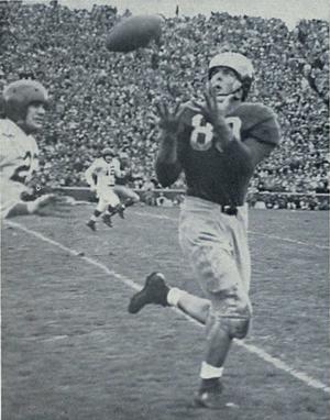 Dick Rifenburg - Rifenburg catching a touchdown pass against Indiana in 1947.
