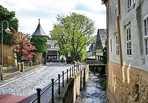 Goslar - Abzucht river in the Old Town