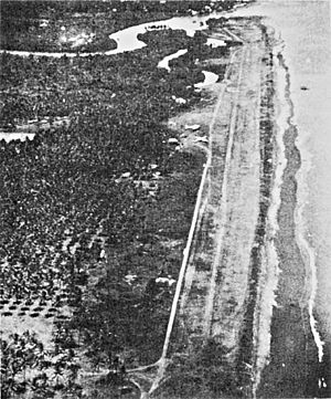 Dipolog Airport - Aerial view of Dipolog Field in 1945