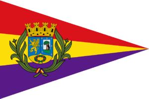 Laureate Plate of Madrid - Distintivo de Madrid pennant.