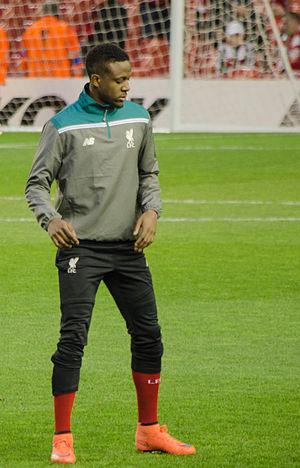 Divock Origi - Origi warming up for Liverpool in 2016
