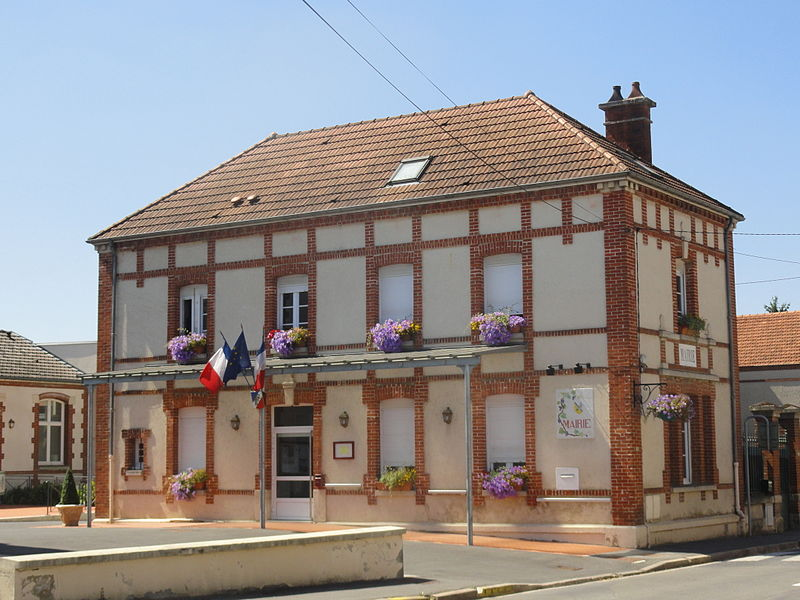 Town hall of Dizy, Marne.