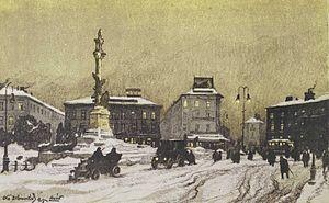 Odo Dobrowolski - Image: Dobrowolski Pomnik Mickiewicza we Lwowie litografia 1915