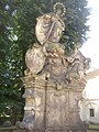 Doksany Convent CZ sculpture of Mary with Duchess Gertruda 140.jpg