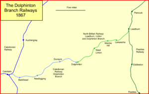 Dolphinton branch - System map of the Dolphinton Branches