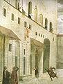 Domenico Ghirlandaio, Cappella Sassetti, Resurrezione del fanciullo, dettaglio, 1485 circa.jpg