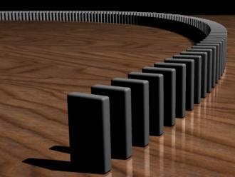 Mathematical induction - Image: Dominoeffect