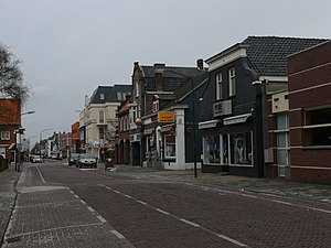Dongen - Street through Dongen