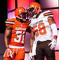 Donte Whitner Christian Kirksey Cleveland Browns New Uniform Unveiling (16966917440).jpg