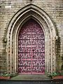Door of St Stephen and All Martyr's church, Little Lever, Bolton.JPG