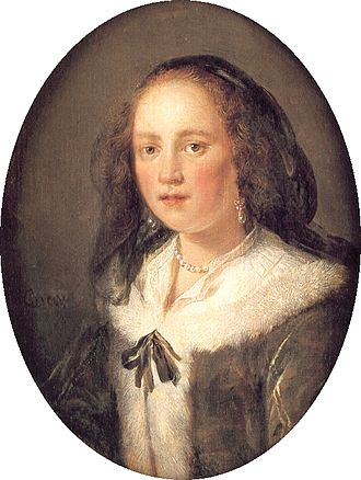 Gerrit Dou - Young Woman in a Black Veil, c. 1660