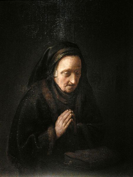 A woman praying
